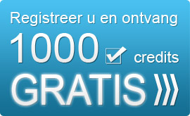 Registeer u en ontvang 1000 GRATIS credits om onze email marketing software te testen!